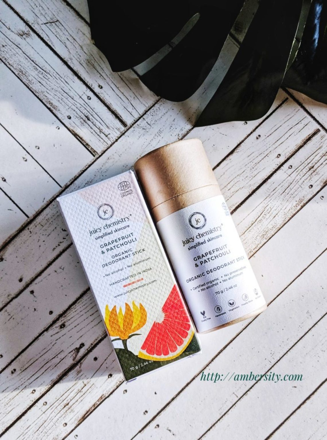 Organic Deodorants are Way to Go! Juicy Chemistry Grapefruit and Patchouli Organic Deo Stick: Review