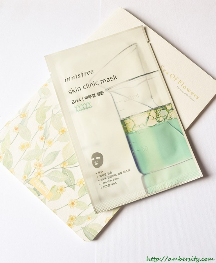 Sheet Mask Chronicles : Innisfree Skin Clinic Mask BHA – Review
