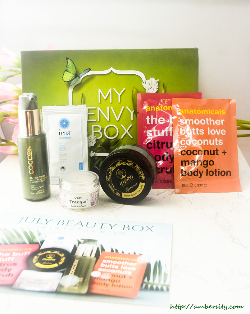 My Envy Box July 2017 – Unboxing, Review