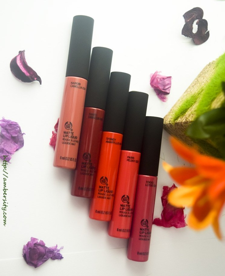 The Body Shop Matte Lip Liquids – Review & Swatches