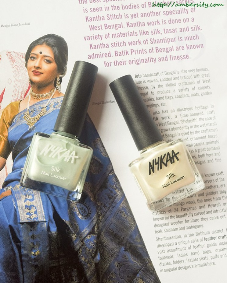 Nykaa Silk Lacquer Breakfast At Tiffany's, My Fair Lady – Review, Swatches